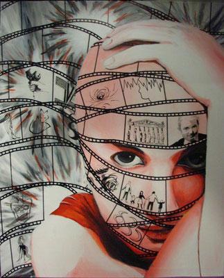 Kopfkino                              Acryl auf Leinwand 80 x 100