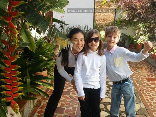 Con Lucía y Héctor en Villa de Leyva. 2016