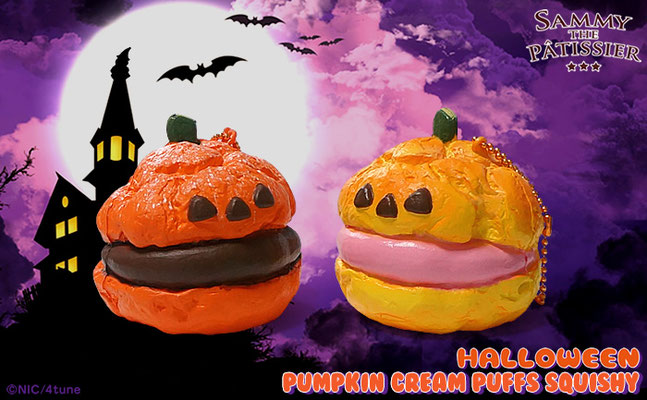 Sammy the Patissier Halloween Pumpkin Cream Puff Super Squishy