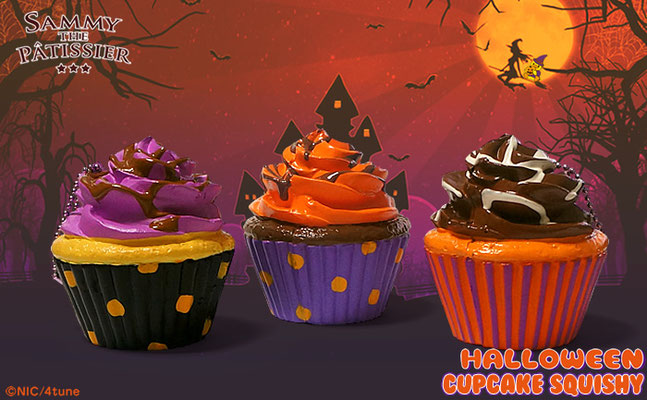 Sammy the Patissier Halloween Cupcake Super Squishy