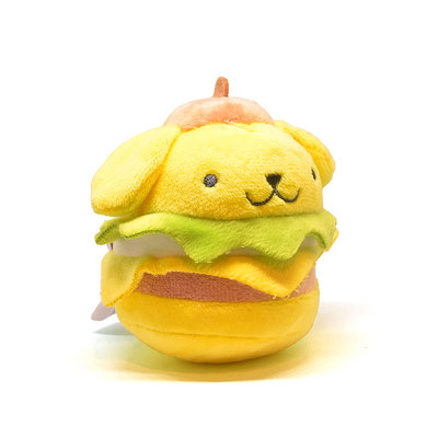 ハローサンリオ ハンバーガーぬいぐるみ キーチェーン マスコット(ポムポムプリン)