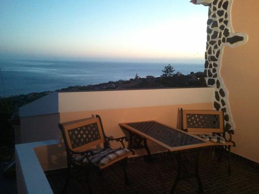 Obere Terrasse mit Sicht auf Paul da Serra
