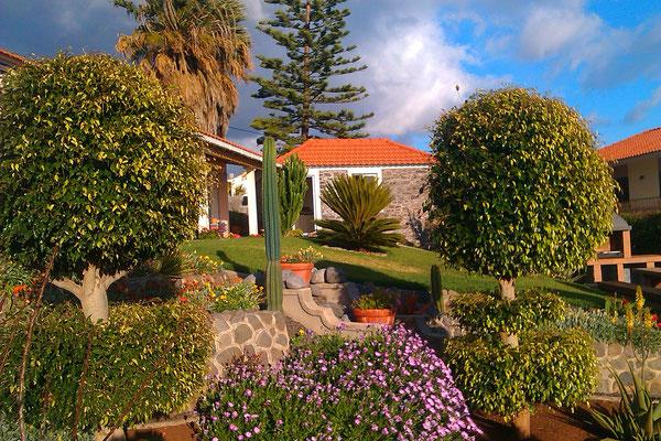 Blick über den Garten.