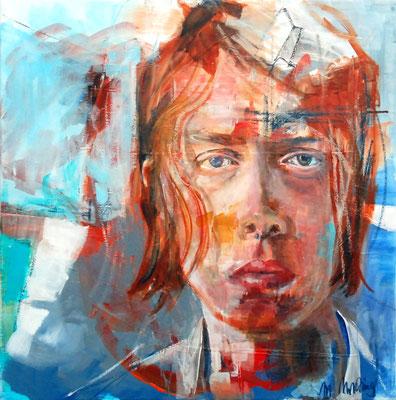 HIS (Heads I), Mixed Media auf Leinwand, 60cm x 60cm