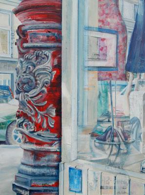 Karoviertel, Mixed Media auf Leinwand, 120cm x90cm