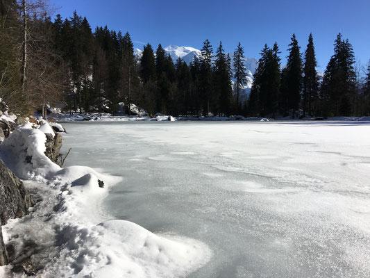 Le lac Vert gelé