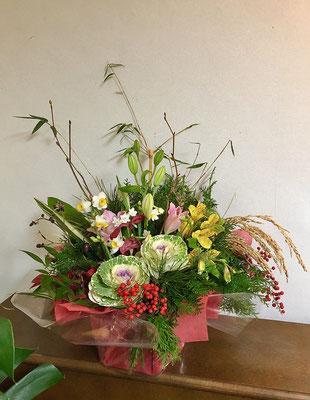 お正月花のアレンジメント発送