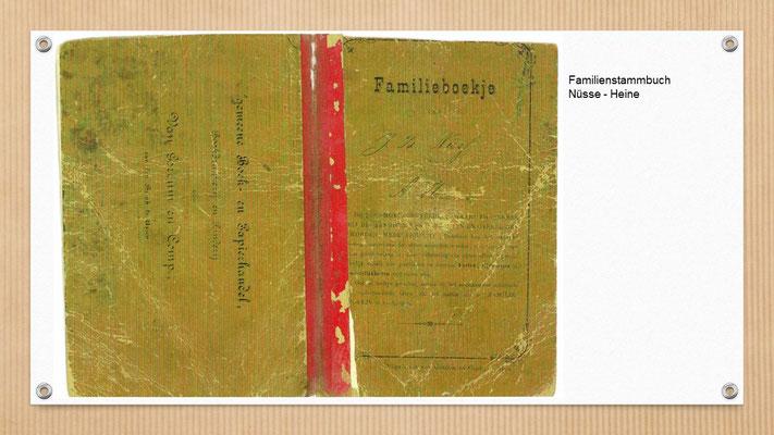 Stammbuch von 1891 der Familie meiner Urgroßeltern (Provinz Drenthe/ NL)