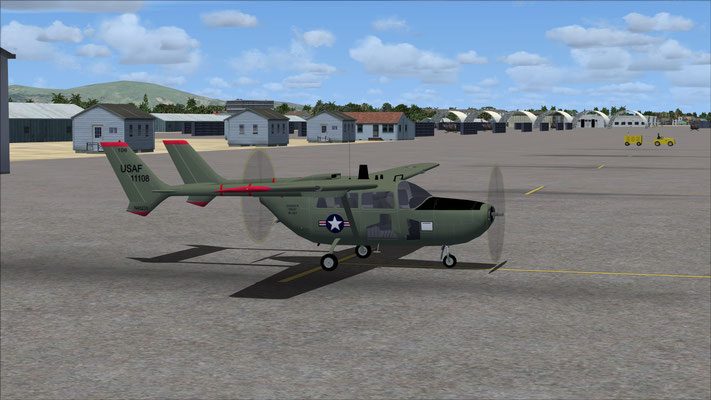 Cessna O-2 USAF Green for FSX