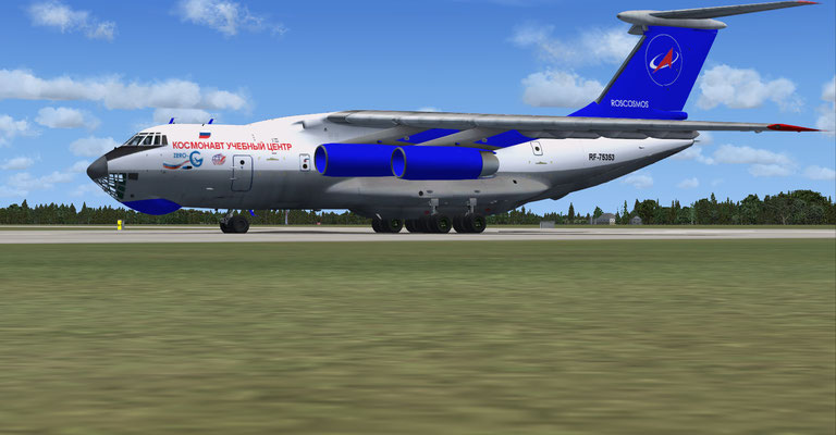 ROSCOSMOS Il-76TD Cosmonaut Training Center Zero-G repaint for FSX