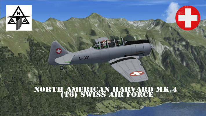 North American Harvard Mk.4 (T6) Swiss Air Force repaint for FSX