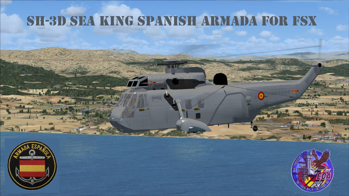 SH-3D Sea King Spanish Armada repaint for Flight Simulator X