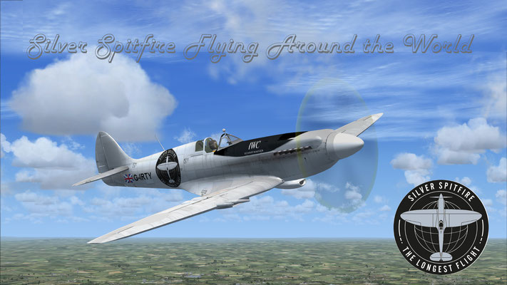 Silver Spitfire Flying Around the World for FSX