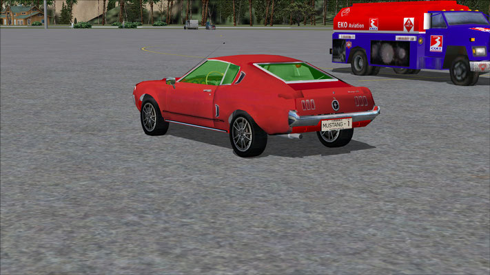 Mustang GT 1967 (fake from Toyota Corola) repaint for FSX