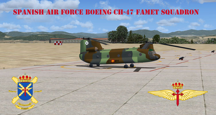 Spanish Air Force Boeing CH-47 FAMET Squadron for FSX