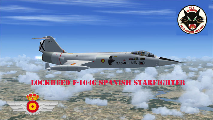 Lockheed F-104G Starfighter 104 Escuadrón Spanish Air Force repaint for FSX