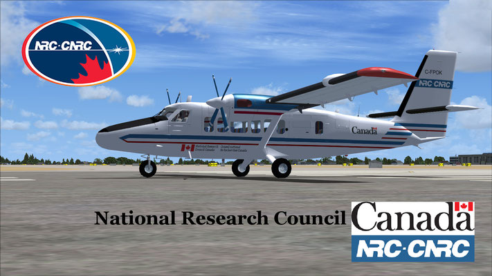 NRC-CNRC Dash-6 Twin Otter National Research Council Canada for FSX