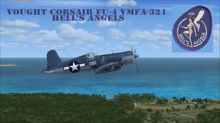 Vought Corsair FU-4 VMFA-321 Hell's Angels