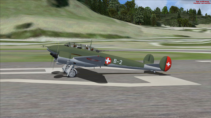 Potez 630 Swiss Air Force, Air Base Dübendorf 1941, repaint for FSX