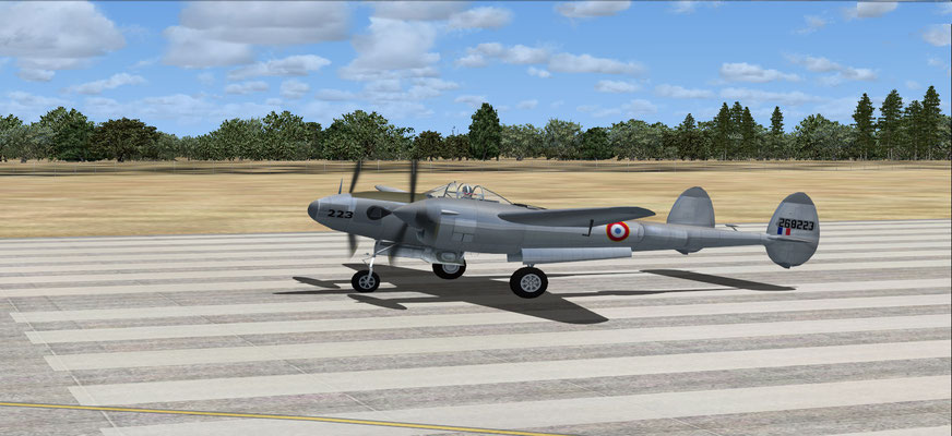 "Saint-Exupéry Lockheed F-5E-2 Photo Lightning Groupe de reconnaissance 2/33 ""Savoie"" repaint for FSX"