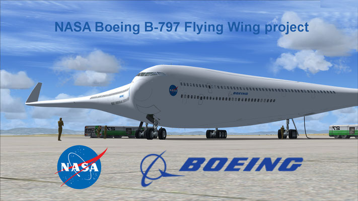 NASA Boeing B-797 Flying Wing project repaint for FSX
