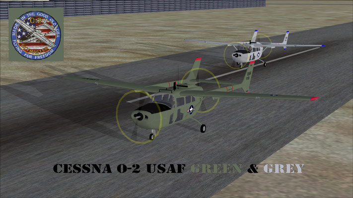 Cessna O-2 USAF Green & Grey for FSX