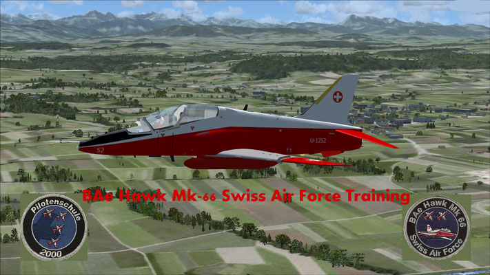 BAe Hawk MK-66 Swiss Air Force Training repaint for FSX