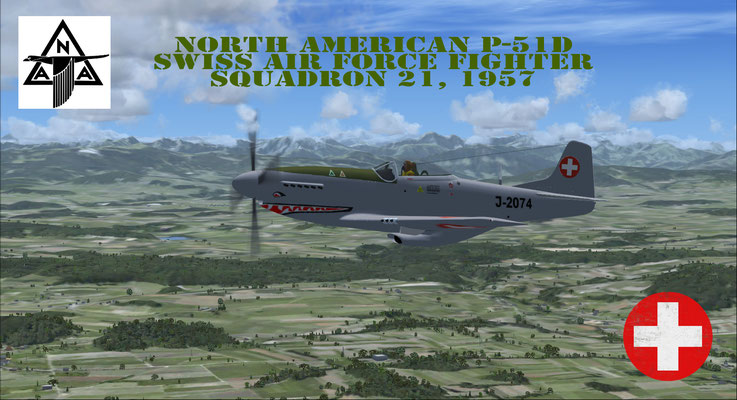 P-51D Mustang Swiss Air Force, Fighter Squadron 21, 1957
