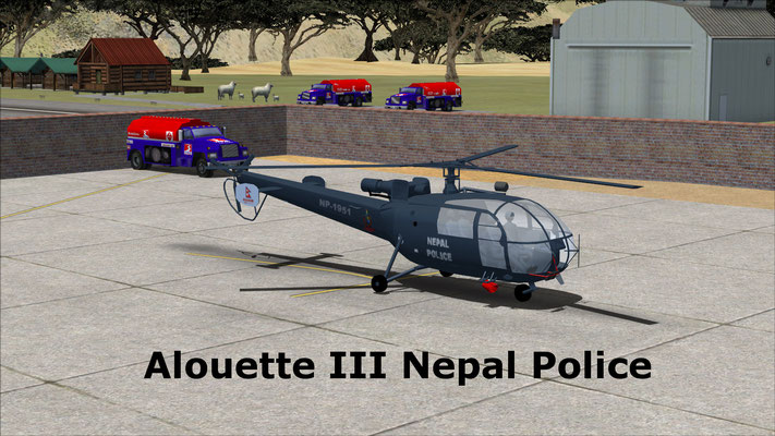 Alouette III Nepal Police for FSX