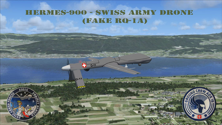 Hermes-900 - Swiss Army Drone for FSX
