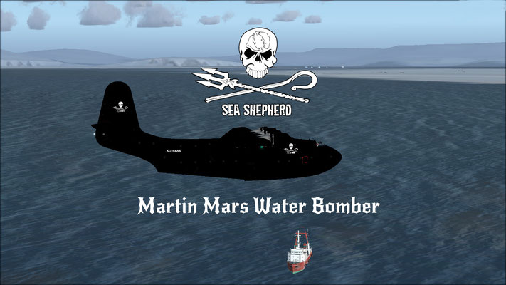 Martin Mars Sea Shepherd Water Bomber (fictional) repaint for FSX