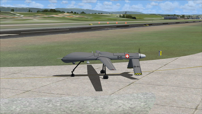 Hermes-900 - Swiss Army Drone repaint (Fake RQ-1A) for FSX