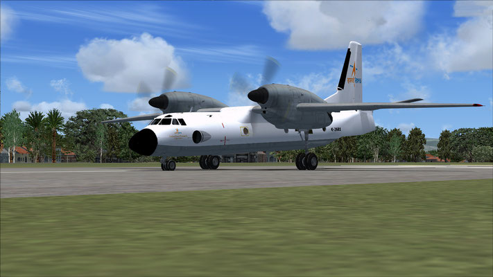 ISRO AN-32 Flying Test Bed repaint for FSX (Fictional)