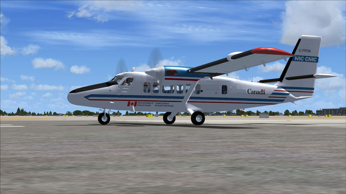 NRC-CNRC Dash-6 Twin Otter National Research Council Canada repaint for FSX