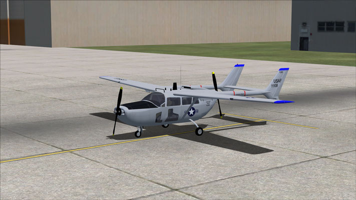 Cessna O-2 USAF Grey for FSX