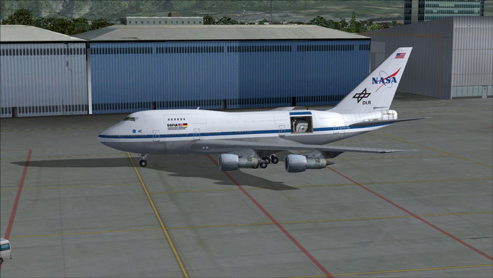 NASA & DLR Boeing 747/SP SOFIA Observatory repaint for FSX