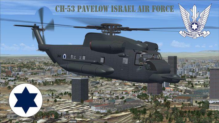 Sikorsky CH-53 Pavelow Israel Air Force for FSX