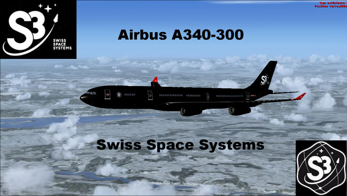 Airbus A340-300 Swiss Space Systems (S3) repaint for FSX