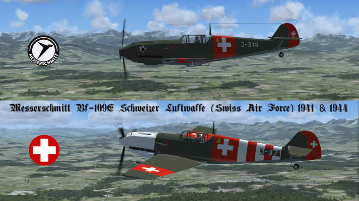 Messerschmitt Bf-109E Schweizer Luftwaffe (Swiss Air Force) 1941 & 1944 for FSX