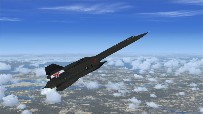 SR-71A Blackbird NASA old logo Experimental for FSX
