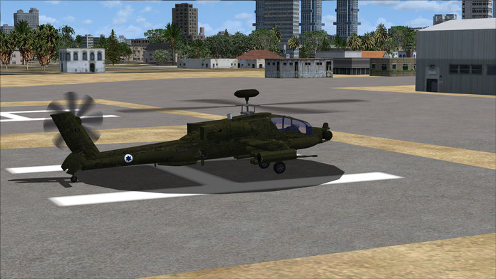 Apache AH-64D Israel Air Force repaint for FSX