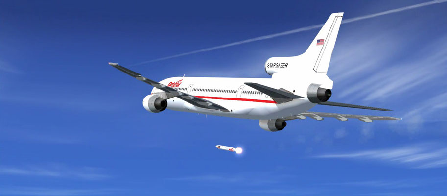 Lockheed L1011-500 Orbital & Pegasus Rocket for FSX