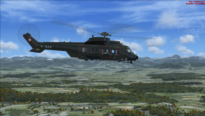 Super Puma Swiss Air Force texture for FSX