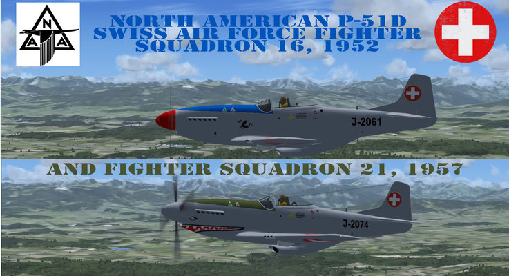 North American P-51D Mustang Swiss Air Force, Fighter Squadron 16 & 21 for FSX