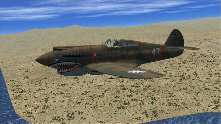 Curtis 81A-2 Hawk Flying Tiger 3rd Pursuit Squadron Hell's Angels repaint for FSX