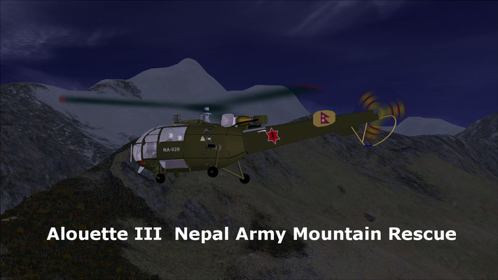 Alouette III  Nepal Army Mountain Rescue for FSX
