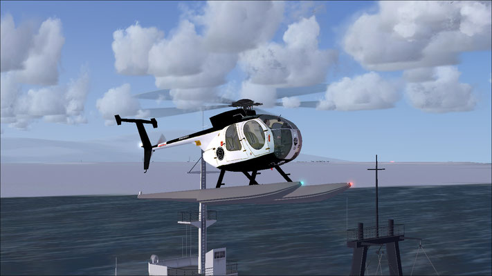MD 500D Float Sea Shepherd Reconnaissance (fictional) repaint for FSX