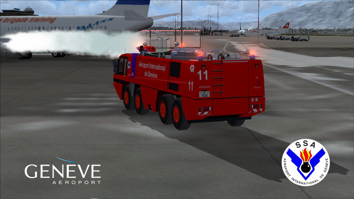 Rosenbauer Panther SSA fire truck for FSX