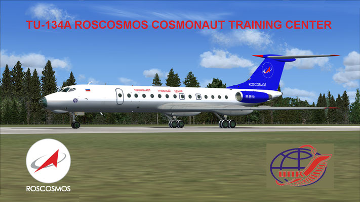 ROSCOSMOS TU-134A Cosmonaut Training Center for FSX
