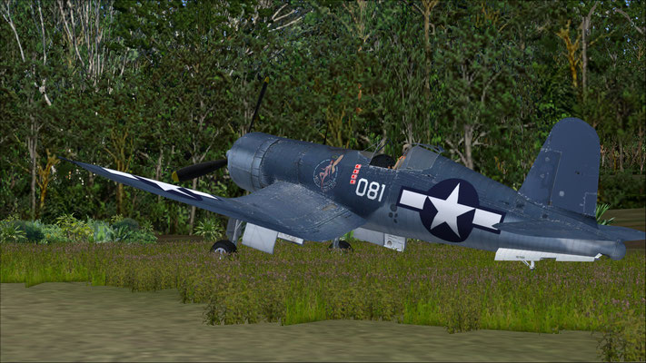 Vought Corsair FU-4 VMFA-321 PTO / WW2 Hell's Angels repaint for FSX